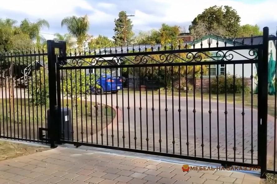 откатные решетчатые ворота на заказ