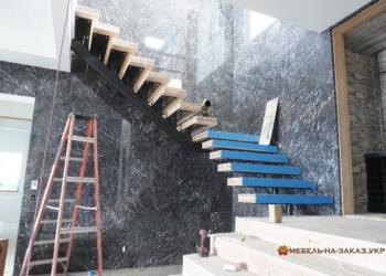 открытая Лестница из металла без перил на заказ
