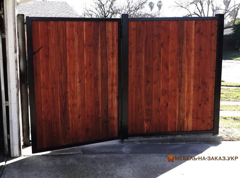 Ворота деревянные под старину