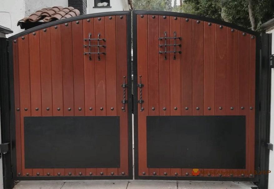 Откатные Деревянные ворота под старину