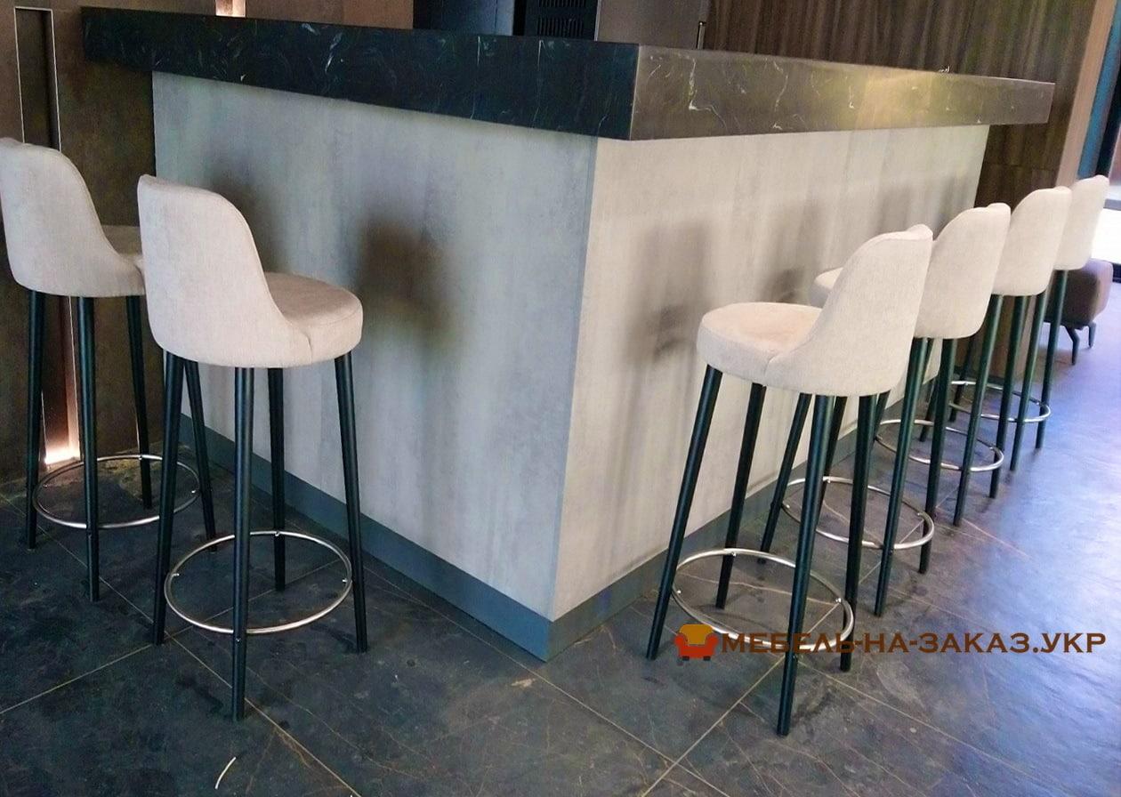 барные мягкие стулья на заказ и