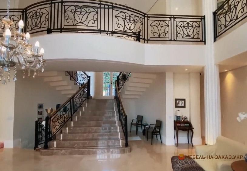 Кованые перила для лестницы, балкона