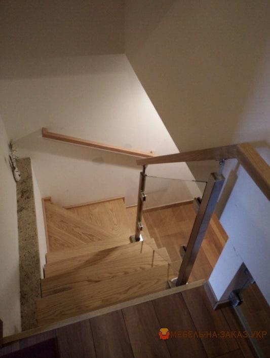 лестница на дачу из бука в БУче